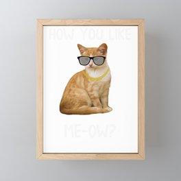 Cat How You Like Meow Funny Cat Lover Framed Mini Art Print