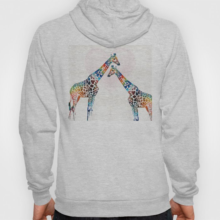 Colorful Giraffe Art - I've Got Your Back - By Sharon Cummings Hoody