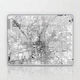 Indianapolis White Map Laptop & iPad Skin