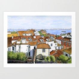 Castelo View, Lisbon Art Print