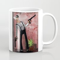 leon Mugs featuring Leon by Eliseu Miranda