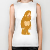 bigfoot Biker Tanks featuring bigfoot by gal shkedi