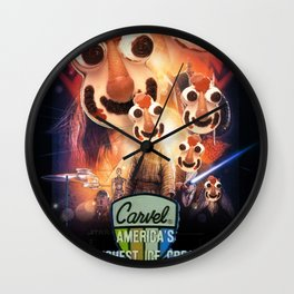 Cookie Puss Episode I: The Freshest Ice Cream Menace Wall Clock
