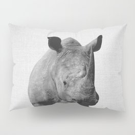 Rhino - Black & White Pillow Sham