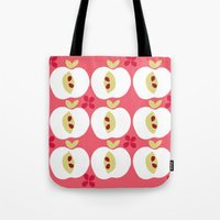apple Tote Bags featuring apple by ottomanbrim