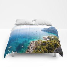 Capri, bay of Naples, Italy Comforters