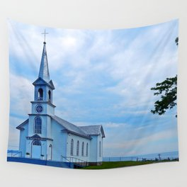 Church and Sea Wall Tapestry