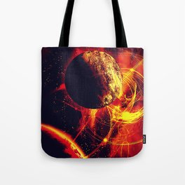 Space is on Fire Tote Bag
