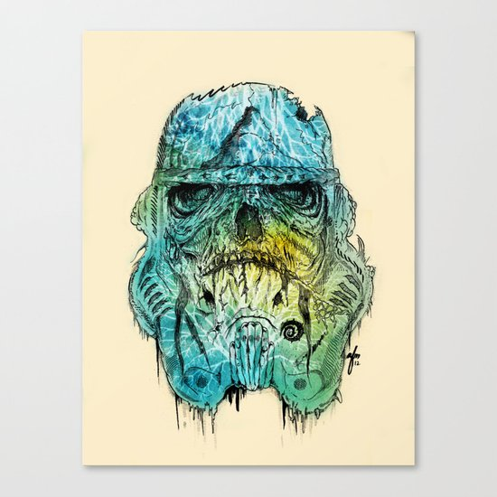 Storm Zombie Canvas Print