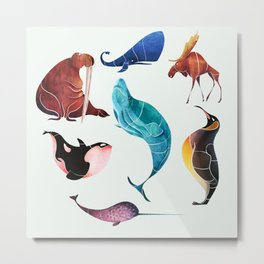 Arctic animals Metal Print