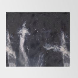 Falling stars II Throw Blanket
