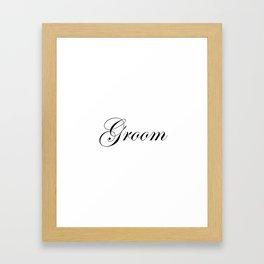 Groom - white Framed Art Print