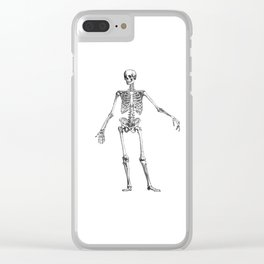 No body to dance with - skeleton Clear iPhone Case