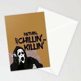 Scream killer Stationery Cards