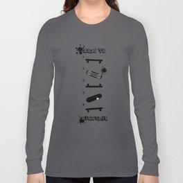 Cool How to KickFlip Skateboarding guideline! Long Sleeve T-shirt