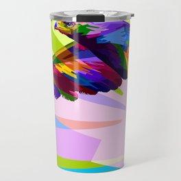 Colorful Eagle Illustration Travel Mug