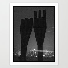 Mysterious Monument with Snow 1 Art Print