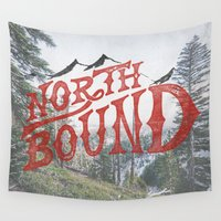 moto Wall Tapestries featuring North Bound  by Kris Petrat Design