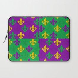 Mardi Gras Fleur-de-Lis Pattern Laptop Sleeve