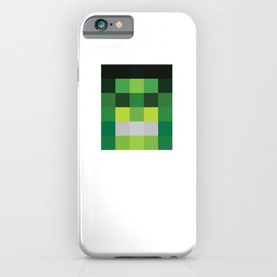 hero pixel green black iPhone & iPod Case