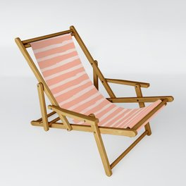 Sweet Life Thin Stripes Peach Coral Pink Sling Chair