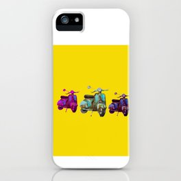 Colorful  scooters iPhone Case
