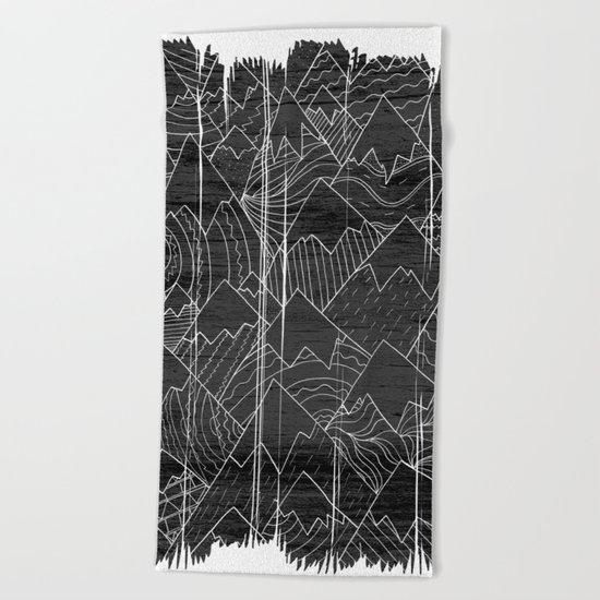 Paintbrush Mounts Beach Towel