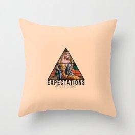 hayley exp Throw Pillow