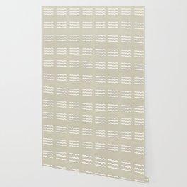 NEUTRAL LINEN . IVORY WAVES Wallpaper