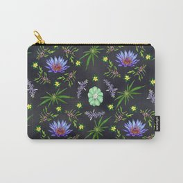 Smokeable Hallucinogenic Plants Pattern Carry-All Pouch