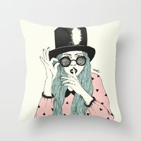 hat Throw Pillows featuring  ''Hat'' by Indi Maverick