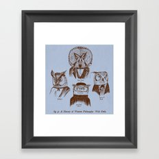 A History of Western Philosophy. With Owls. Framed Art Print