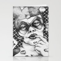 harley Stationery Cards featuring Harley by Lesley Tang