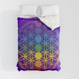 Flower of Life and Chakras Comforters