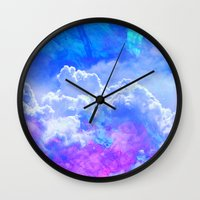 heaven Wall Clocks featuring Heaven by Calepotts