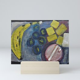 Still life with a banana Mini Art Print