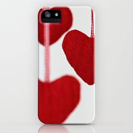christmas decoration and valentine heart shape iPhone Case