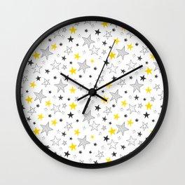Stars Pattern Wall Clock
