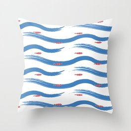Summers Wave Throw Pillow
