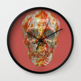 Red Candy Skull Wall Clock