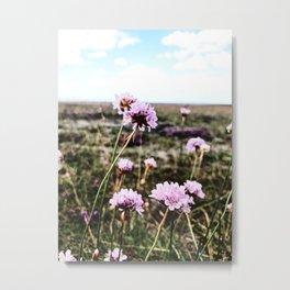 Nordic nature - Powdery pink Metal Print