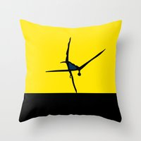 dancer Throw Pillows featuring Dancer by THE USUAL DESIGNERS