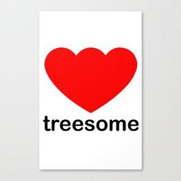 Treesome Love Canvas Print