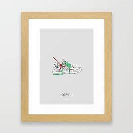 """Off White c/o """"Air Presto"""" White Colourway Framed Art Print"""