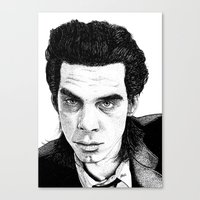 "nick cave Canvas Prints featuring ""Nick Cave"" by Jocke Hegsund"