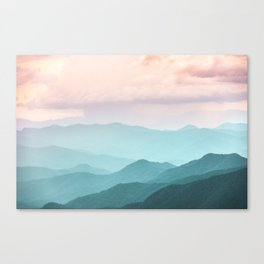 Smoky Mountain National Park Sunset Layers II - Nature Photography Canvas Print