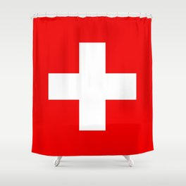 Flag of Switzerland - Authentic (High Quality Image) Shower Curtain