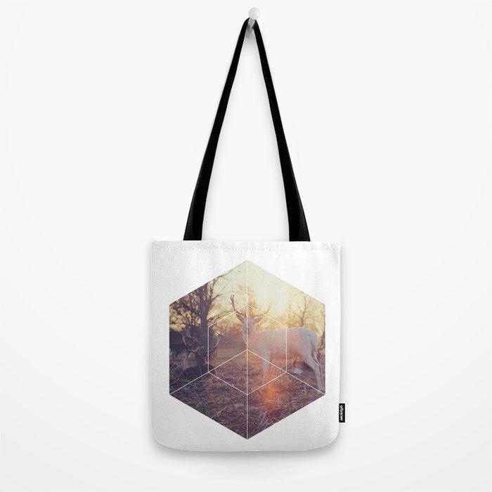 Magical Deer - Geometric Photography Tote Bag