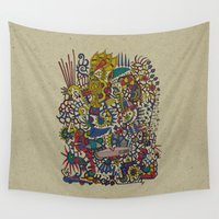 romantic Wall Tapestries featuring - romantic summer - by Magdalla Del Fresto