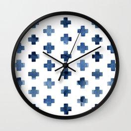 Crosses Scandinavian Pattern Wall Clock